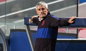 The end now surely looms for Quique Setién at Barcelona.