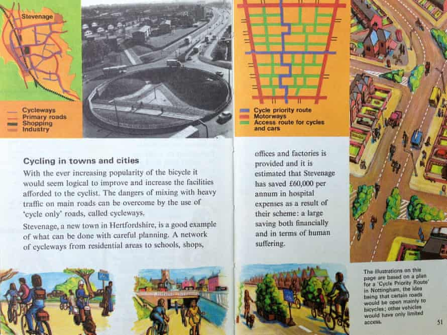 Ladybird's 1975 book The Story of the Bicycle lauded Stevenage.