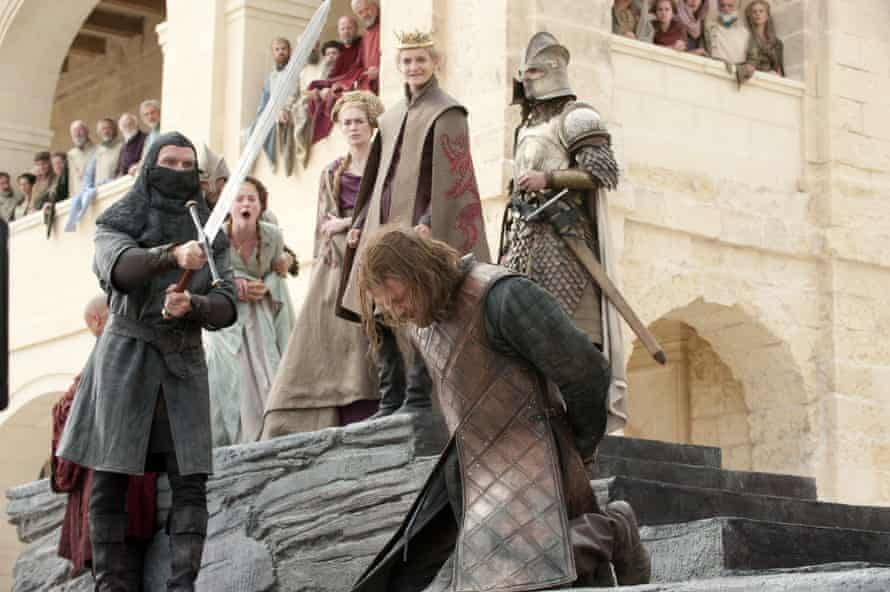 Truly shocking ... the beheading of Ned Stark.