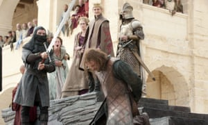 The moment that got everyone talking ... the beheading of Ned Stark.