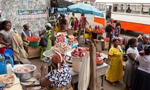 Traders at Kaneshie Market. Accra, Ghana.