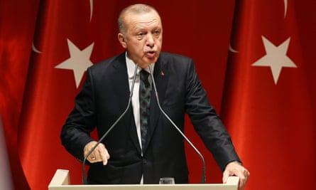 Turkish President Recep Tayyip Erdoğan.