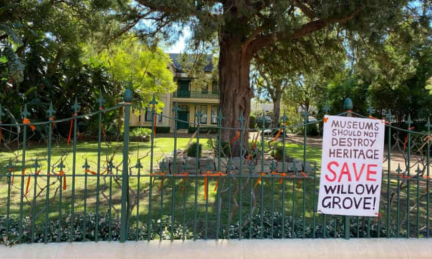 Willow Grove sits at the centre of the proposed Powerhouse Parramatta site, with heritage activists and traditional owners protesting its removal.