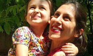 Nazanin Zaghari-Ratcliffe with her daughter, Gabriella.