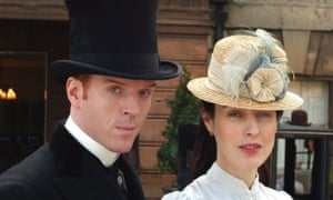Damian Lewis and Gina McKee in The Forsyte Saga.