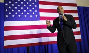 Booker speaks in North Las Vegas.