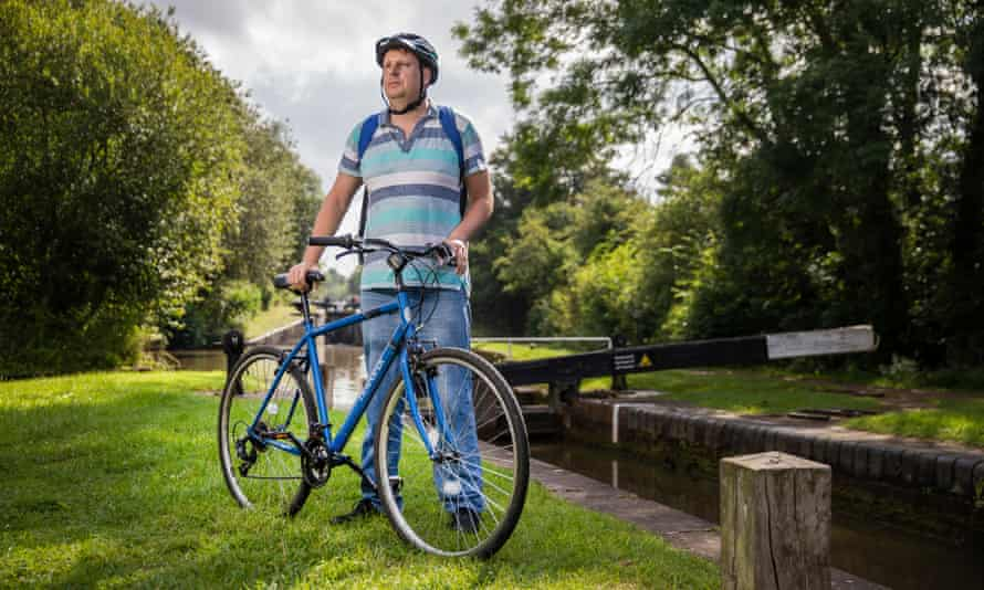 'It goes faster than my old mountain bike': Nick Hatton, with his Apollo.