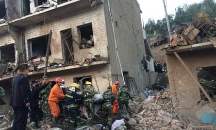 Building explosion in Shaanxi