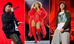 The Weeknd, Beyonce and Eminem.