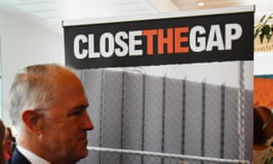 Malcolm Turnbull was criticised for leaving the Close the Gap parliamentary breakfast event early.