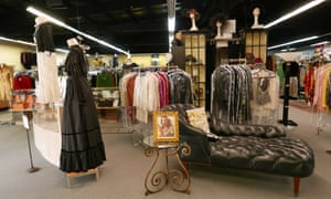 Always in fashion … dresses hang on display at C Madeleine's, vintage designer clothing store, Miami.