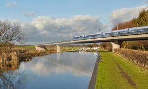 Part of the proposed route for HS2