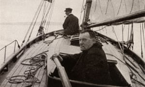 Hilaire Belloc, controversial writer, historian, political activist, in his boat