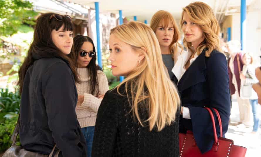 Business as usual: Shailene Woodley, Zoe Kravitz, Reese Witherspoon, Nicole Kidman and Laura Dern in Big Little Lies.