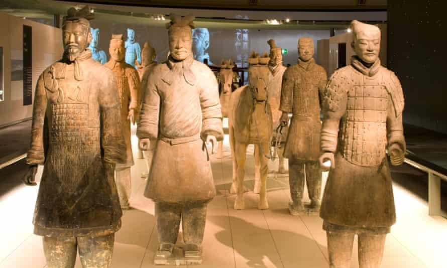 Some of the terracotta warriors on display at the British Museum in 2007.