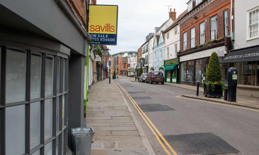 A property for sale on 3 May in Eton High Street, Windsor.