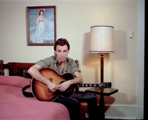 Of this image, taken in Nebraska in 1982, Stefanko says: 'I liked this series as it evokes Bruce appearing to be in an old roadside motel'
