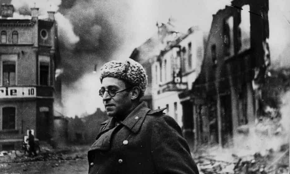 Vasily Grossman with the Red Army in Schwerin, Germany, 1945.