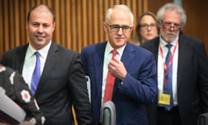 Josh Frydenberg with Malcolm Turnbull