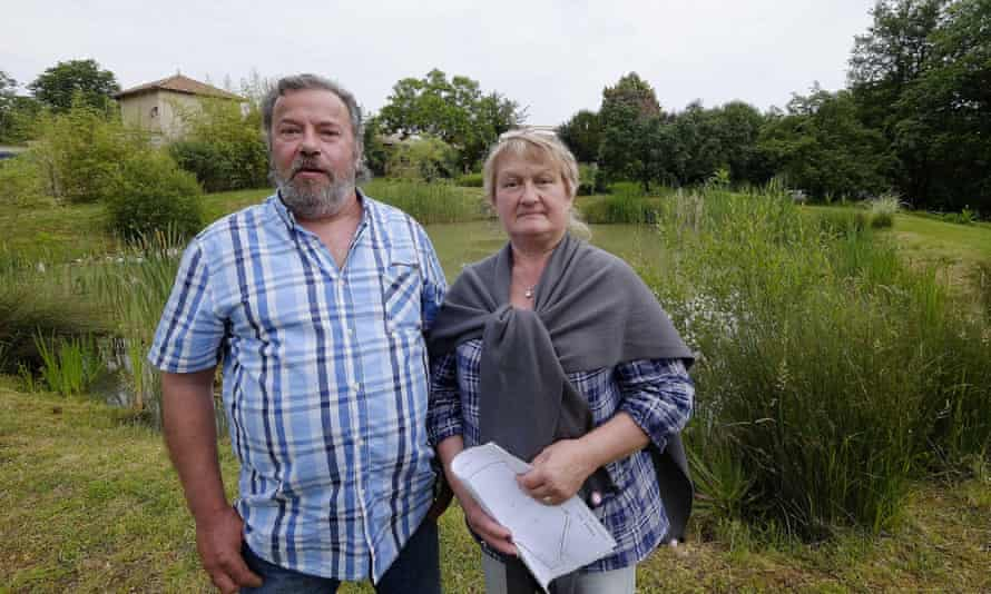 Michel and Annie Pécheras have been told they have 90 days to drain their pond in the village of Grignols - where frogs were alleged to have reached 63 decibels at certain times of the year.