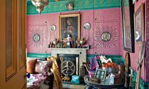 Pattern power ... a bedroom in Henry Wilson's property.