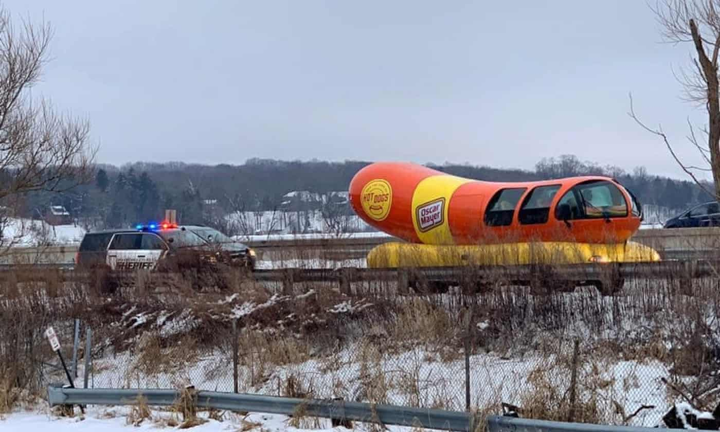 World's wurst driver: Oscar Mayer Wienermobile gets frank warning from officer