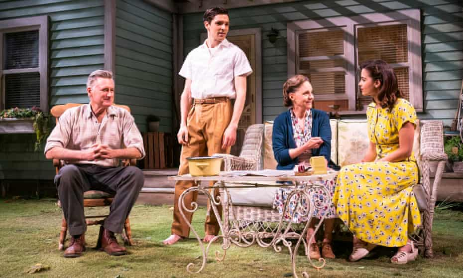 Enduring power … from left, Bill Pullman, Colin Morgan, Sally Field and Jenna Coleman in All My Sons.