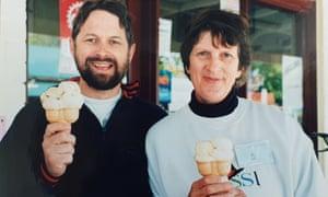 John and Marjorie Barrett with ice creams