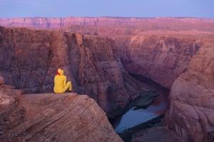 Shelby from Phoenix Arizona sits waiting for the sunrise.