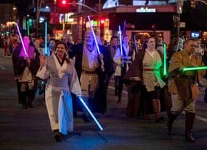 People dressed as Star Wars characters