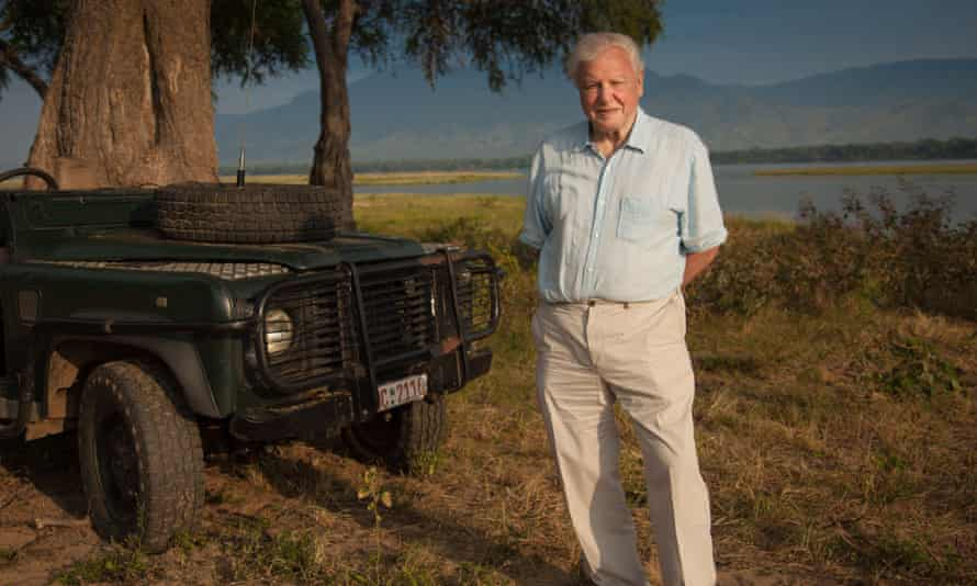 Sir David Attenborough on location for the new series.