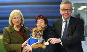 Michael Gove at Battersea Dogs Home
