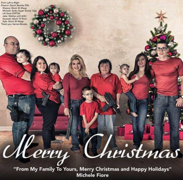 Nevada politician Michelle Fiore's Christmas card.