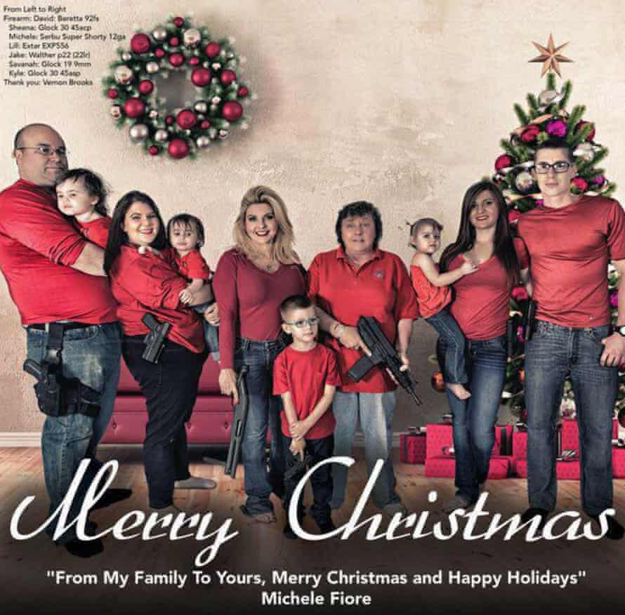 Everyone was armed in Michele Fiore's Christmas card.