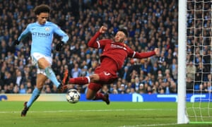 What if this Leroy Sané 'goal' for Manchester City against Liverpool last season had not been ruled out?