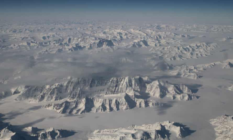 The north-east coastline of Greenland, one of the world's two great ice sheets.