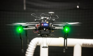 A drone built by the Aerial Robotics Lab at Imperial College London to repair leaks in oil and chemical pipelines