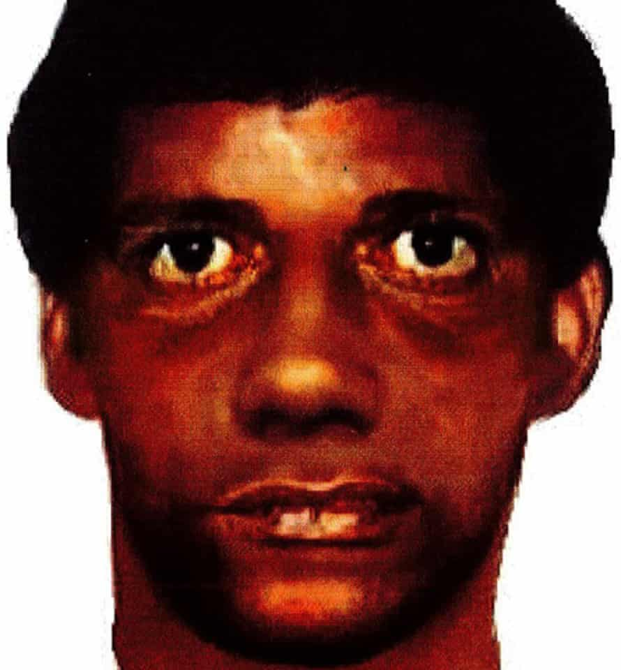 An artist's impression of a suspect sought by police investigating a series of rapes that began in 1985.