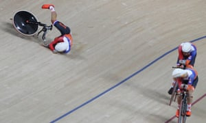 Joost van den Burgtake takes a nasty tumble.
