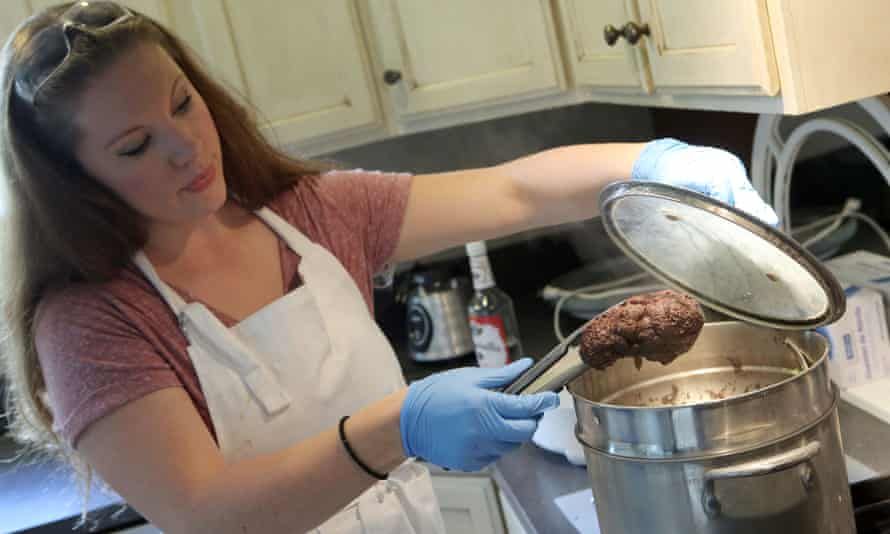 Laura Curtis of Placentawise in Lindon, Utah, prepares a placenta for a client that will be turned into capsules as a supplement for new mothers. Human placentophagia, saving your placenta after birth and eating it, is a practice with no anthropological precedent, promoted by mothers swearing by its health benefits despite a scarcity of research.