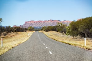 The Macdonnell Ranges outside Alice Springs.
