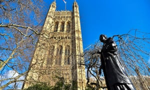The statue of Emmeline Pankhurst in Victoria Tower Gardens, London