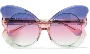 Cat-eye acetate sunglasses, £170, from Net-a-Porter.