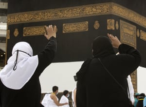 Women circle the Kaaba before the official start of the Hajj pilgrimage on Saturday night