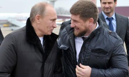 Vladimir Putin with Ramzan Kadyrov in 2011