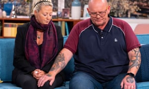 Charlotte Charles and Tim Dunn, Harry's parents, on the This Morning TV show, in London.