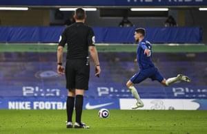 Jorginho skips up to score from the spot.