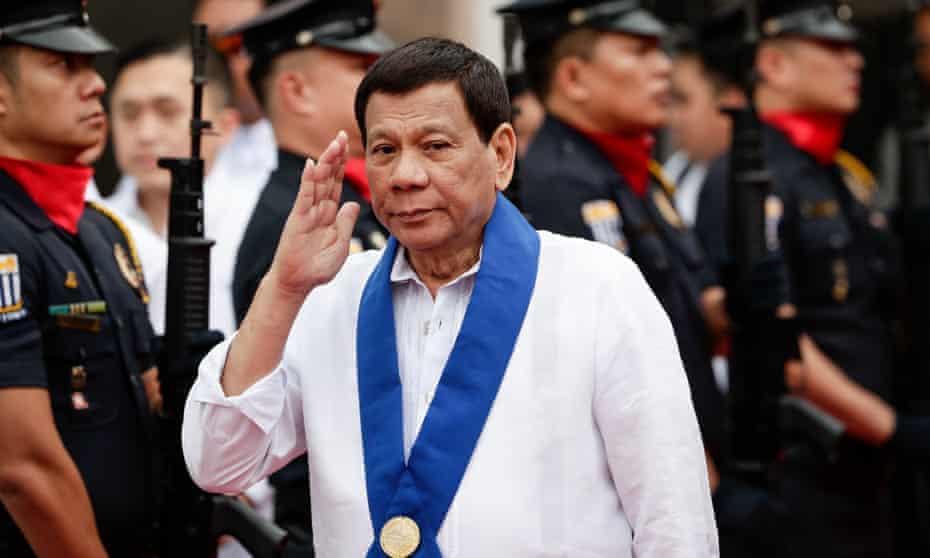Philippines president Rodrigo Duterte in Manila.