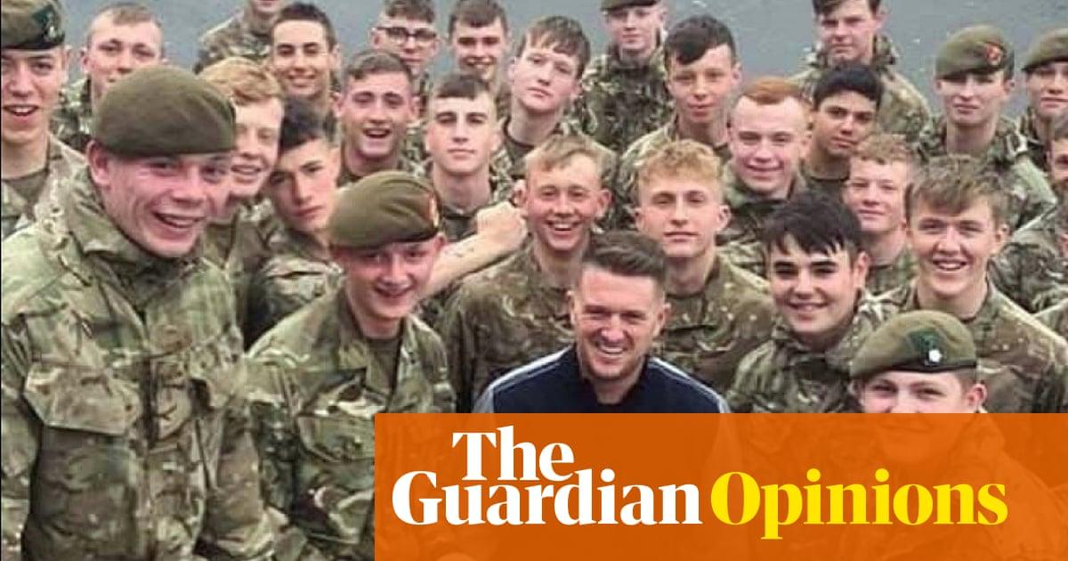 The Tommy Robinson photos show how far right the British army is   Joe Glenton