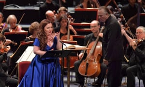 High-lying coloratura … soprano Albina Shagimuratova at the Royal Albert Hall.